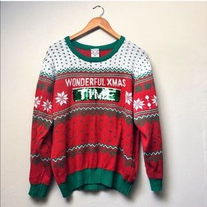 """Sweaters - Plus // """"Ugly"""" Christmas Sweater Reversible Sequin"""